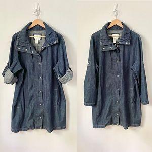 Live a little Blue Jean Dress / Coat Size 2X